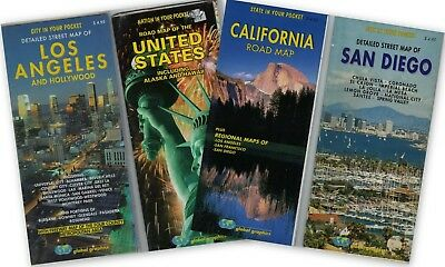 MAPS OF UNITED States, Los Angeles, Hollywood, San Diego, California ...