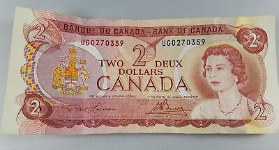 Vintage Collectible 1974 Canada Two Dollar Bill Canadian Currency Excellent