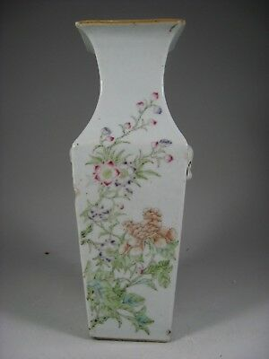 19/20th Century Chinese Square Famille Rose Vase