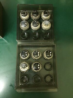 (11) IBM Selectric Typewriter Ball Type Element MIXED LOT with original case