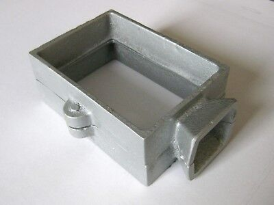 Cast Iron 2 part  flask mold for sand casting jewellery making