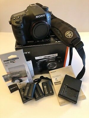 Sony Alpha a77 II 24.3MP Digital SLR Camera - Black (Body Only) with bonus items