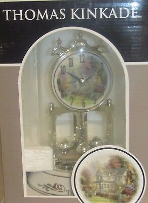 Anniversary Clock Thomas Kinkade Collectible Rotating Pendulum New In Box
