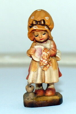"Anri Sarah Kay ""Helping Mother"" Miniature with Display Dome and Original Box"