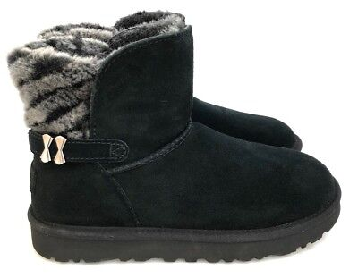 04aa4837794 UGG ADRIA SOFT Suede and Sheepskin Wool Lining Winter Women's Black Boots  7,8,10