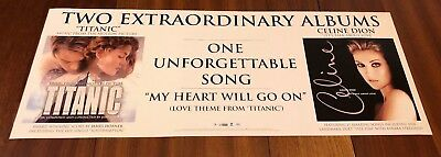 """Celine Dion """"titanic & Let's Talk About Love"""" 2-Sided U.s. Promo Poster Rare"""