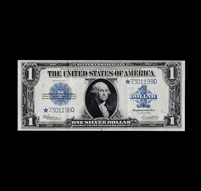 Spectacular 1923 $1 Silver Certificate **star** Strong Extra Fine+