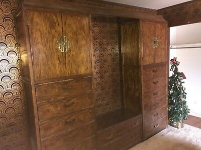 CENTURY FURNITURE CO Chin Hua Asian Style Cabinets & Dressers Wall Unit - RARE
