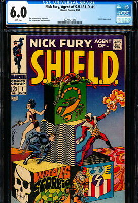 NICK FURY, AGENT OF SHIELD #1 CGC 6.0 Steranko story & art! White Pages!