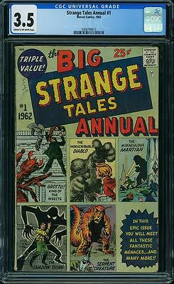 STRANGE TALES ANNUAL #1 CGC 3.5 Monster issue! 1962