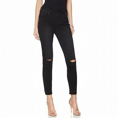 G by Giuliana NEW Black Womens Size XL Released-Hem Skinny Ankle Jeans $99- 637