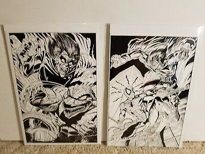 Amazing Spiderman Original Comic  Pages! Morbious! Signed: Artist Mike Witherby