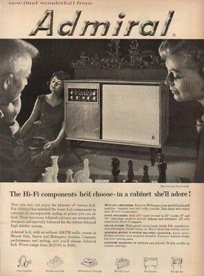 1957 Admiral Model 414 Console Phonograph~AM/FM ad : Vintage Advertising