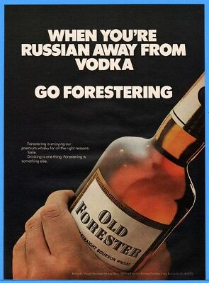 1973 Old Forester Whiskey Brown Forman Distillers Louisville KY Bottle Print Ad