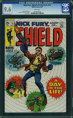 NICK FURY, AGENT OF SHIELD #14 CGC 9.6 Herb Trimpe cover & art! White Pages!