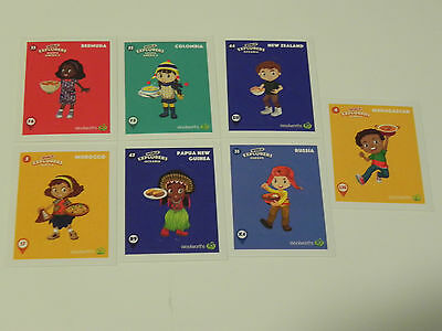 7 Woolworths World Explorers Stickers
