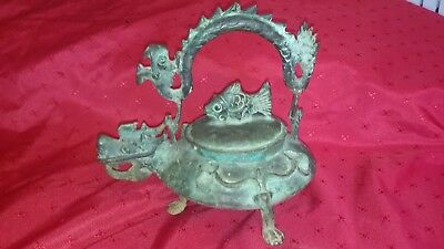 Rare 19th/ 20th Century Piece Jh. Kanne - Chinese Bronze Tea / Wine Pot