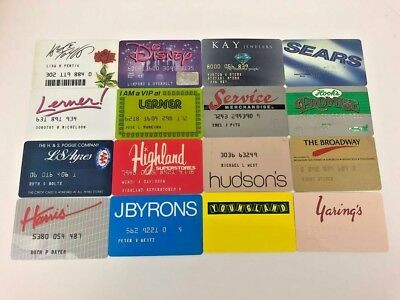 Lot of 16 Vintage Retail Store Cards Credit Charge Card Q12