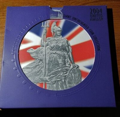 2004 UK Brilliant Uncirculated Coin Collection Set - Royal Mint