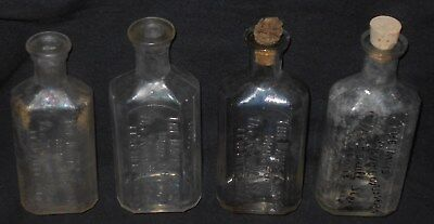 4 Rexall Drug Medicine Bottles Minor Wear Leadville, Co Conditions Vary Look