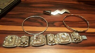 lot of Taxco, southwestern , native american sterling jewelry, scrap or wear