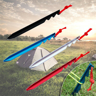 10Pcs/set  Aluminum Alloy 18cm Outdoor Camping Trip Tent Peg Ground Nail Stakes