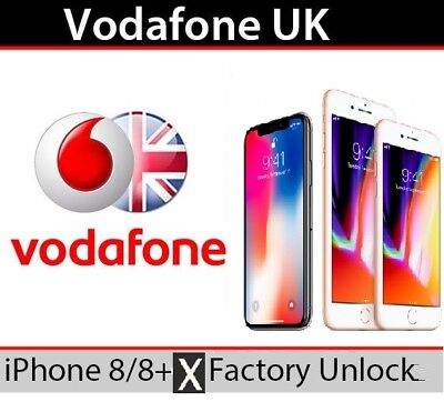 Vodafone Uk Unlocking Service For Iphone 8 8 + X 10 In 24-48 Hours 100% Service