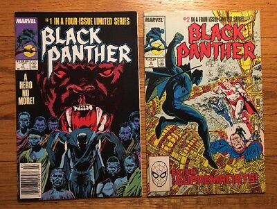 BLACK PANTHER issue #1 and #2 Marvel 1988 A HERO NO MORE - Movie