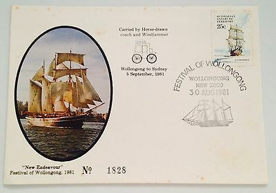 """""""New Endeavour"""" Festival of Wollongong 1981 - First Day Cover + Stamp  Australia"""