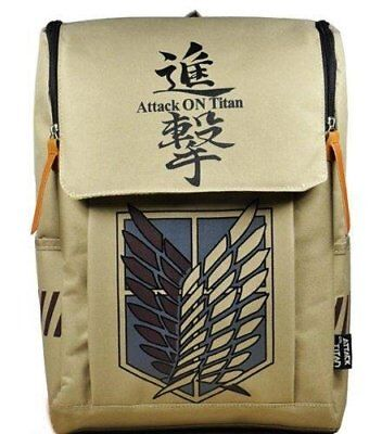 Large Capacity Attack on Titan Backpack Canvas Rucksack Anime Book Bag Laptop...