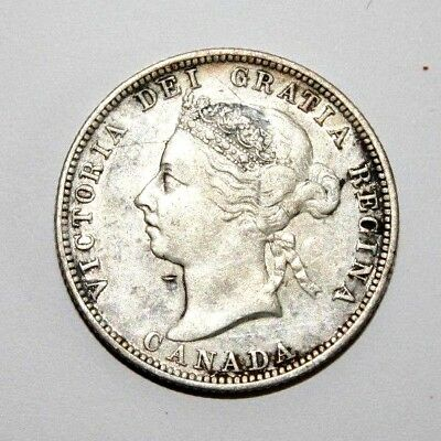 1892 Canada 25C Twenty Five Cents Silver Coin KM 5 Very Nice Details
