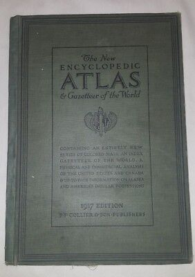 The New Encyclopedic Atlas and Gazetteer of the World 1917 Edition HB