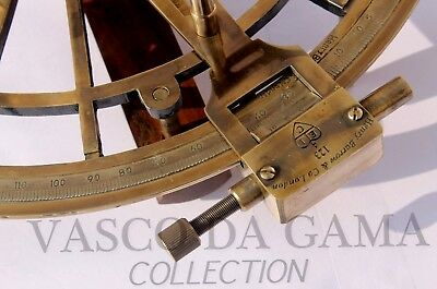 Antique Nautical Brass Sextant 7 Inch Nautical Sextant Ship Astrolabe Device