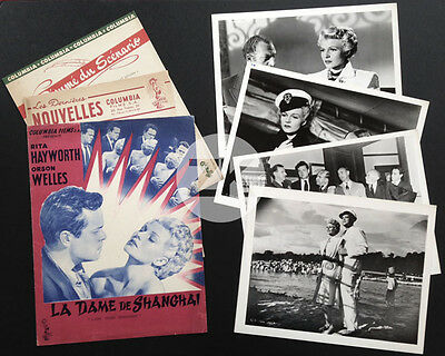 LA DAME DE SHANGHAI Lady RITA HAYWORTH Orson WELLES Film Noir DP + 4 Photos 1947
