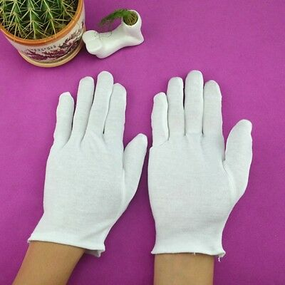 5Pairs White Cotton Gloves Khan Cloth Quality Check Gloves Rituals PlayGloves/A+