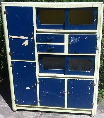 Vintage Retro Old Kitchen Dresser
