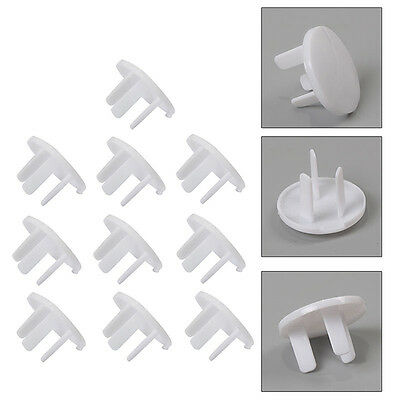 20xElectric Outlet 2/3 Plug Cover Baby Children Kids Protectors Socket Safety.UK
