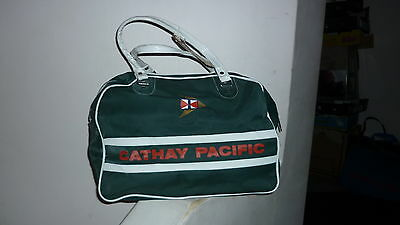 VINTAGE 1970s CATHAY PACIFIC AIRLINE RETRO CARRY ON CABIN BAG, A1 CONDITION