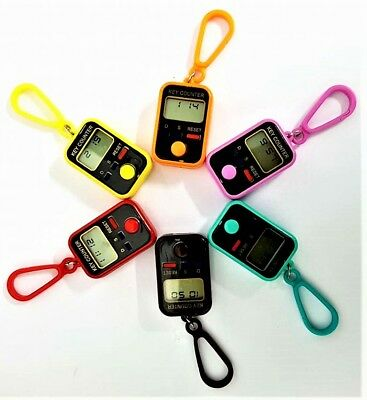 Digital Electronic Tally Counter with Time - Dhikr / Tasbeeh  (Assorted Colours)