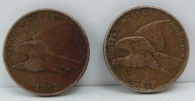 1857 & 1858 Flying Eagle Cent - ONLY MADE FOR THREE YEARS 1857 - AU Details