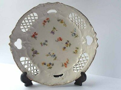 Alter Decorative Plate, Flowers, Hand Painting, France, around 1870 G23