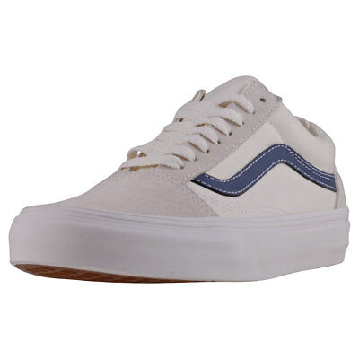 dd446dceec Vans Old Skool Vintage Womens White Suede   Canvas Casual Trainers Lace-up
