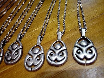 12 mens metal pendants /necklaces new.Costume