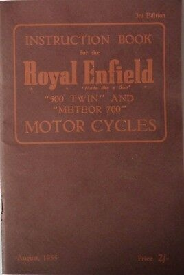 Royal Enfield 500 Twin and Meteor 700 Instruction Book - 1955