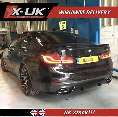 "2017+ BMW 5 series seventh gen ""G30 / G31 / G38"" M-SPORT styled 3D rear diffuser"