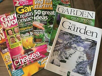 The Garden RHS magazines, gardeners world and gardens monthly mags 5 in total