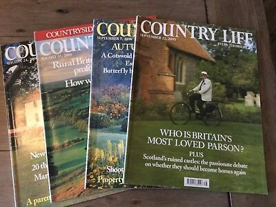Country Life Magazines 2005 and 2006 x 4