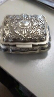silver jeweler box in good all round