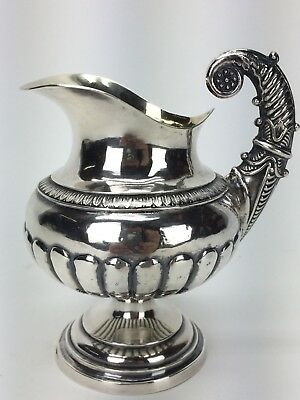 Antique Swedish Silver Sweden Neoclassical Pitcher Creamer Jug Gilt 1843 NW