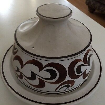 radford hand painted cheese dome